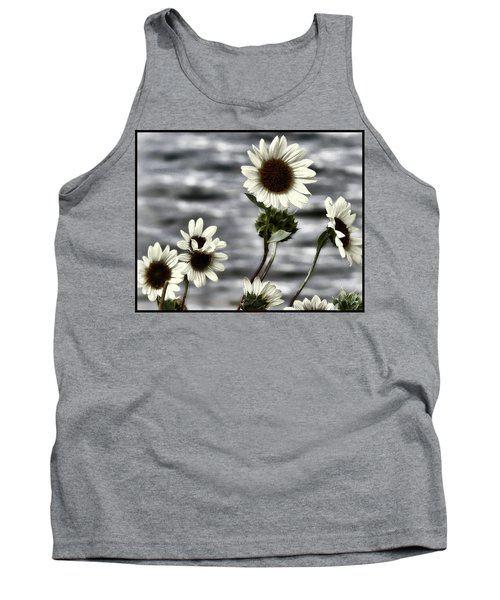Tank Top featuring the photograph Fading Sunflowers by Susan Kinney