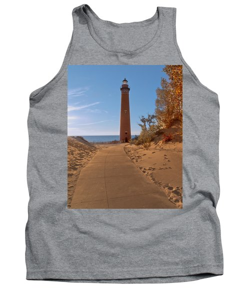 Fall At Little Point Sable Light Tank Top