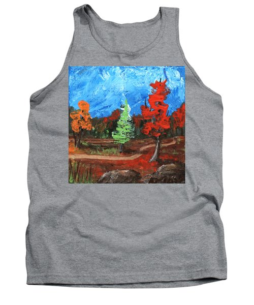 Tank Top featuring the painting Fall Colours #2 by Anastasiya Malakhova