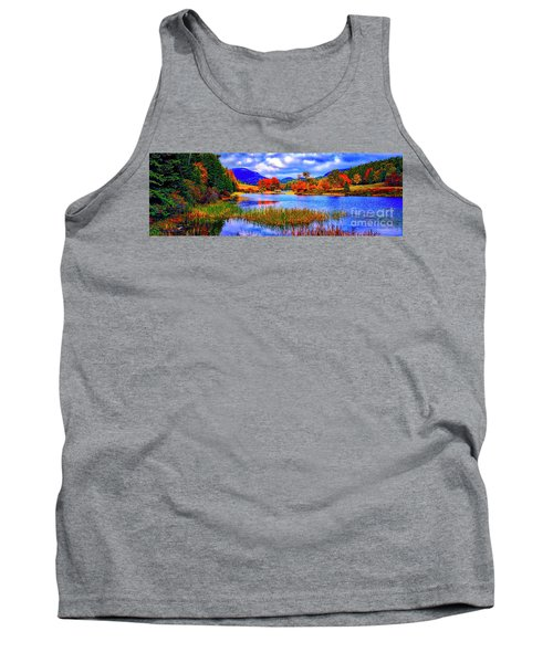 Fall On Long Pond Acadia National Park Maine  Tank Top