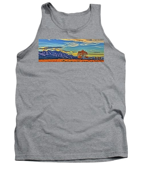 Tank Top featuring the photograph Fall Over The Flatirons by Scott Mahon
