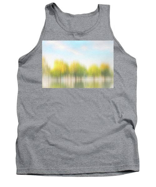 Fall Trees On Flooded Lake Tank Top