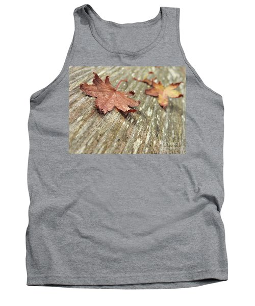 Tank Top featuring the photograph Fallen Leaves by Peggy Hughes