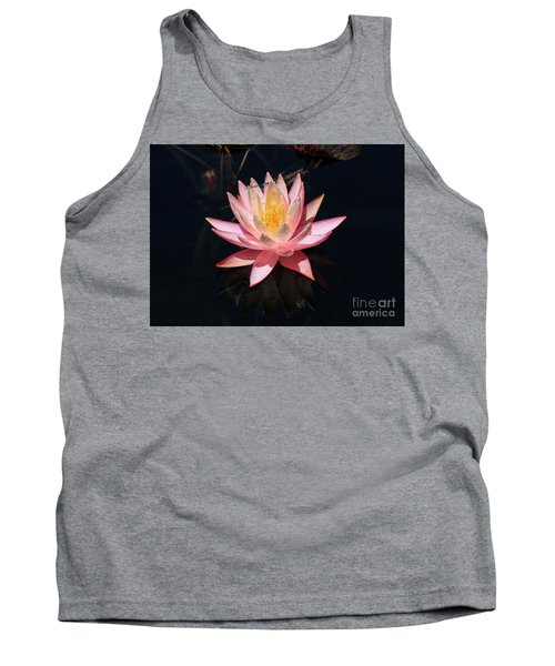 Familiar Bluet Damselfly And Lotus  Tank Top
