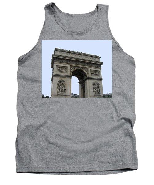 Famous Gate Of Paris - Arc De France Tank Top by Suhas Tavkar