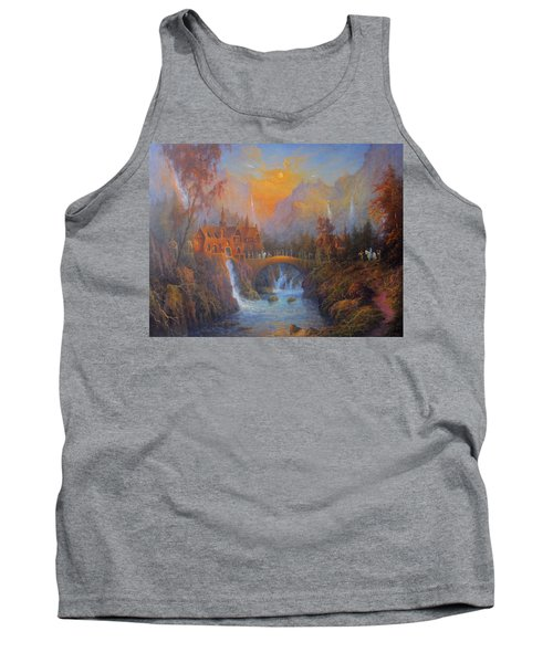Farewell To Rivendell The Passing Of The Elves Tank Top by Joe  Gilronan