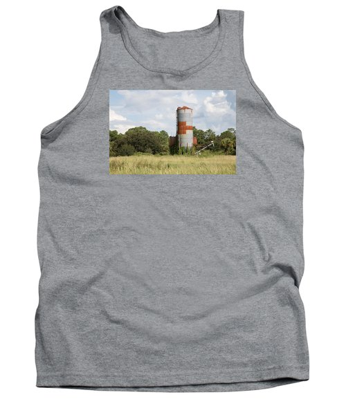 Farm Life - Retired Silo Tank Top by Christopher L Thomley