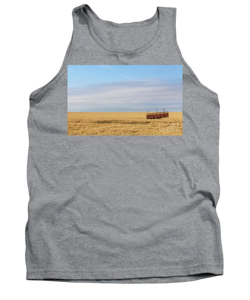 Farm Trailer In The Middle Of Field Tank Top