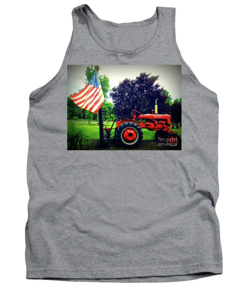 Farmall And Flag Tank Top