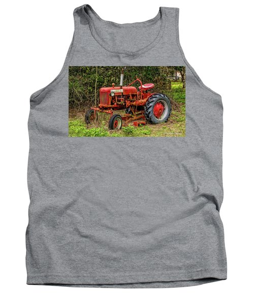Tank Top featuring the photograph Farmall Cub by Christopher Holmes