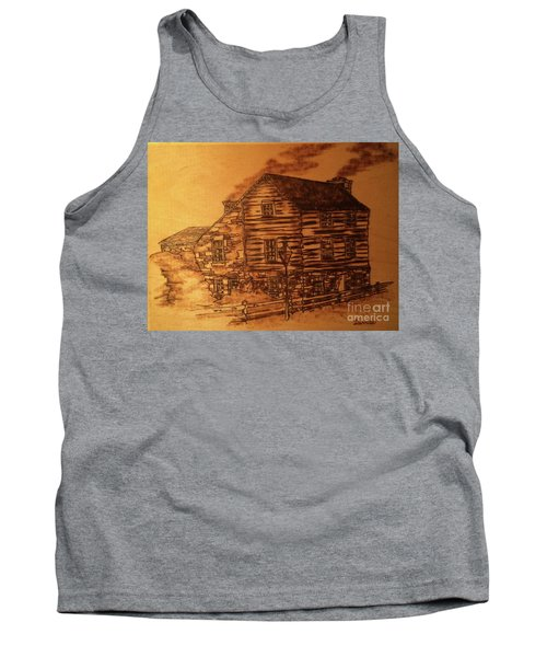Tank Top featuring the pyrography Farmhouse by Denise Tomasura