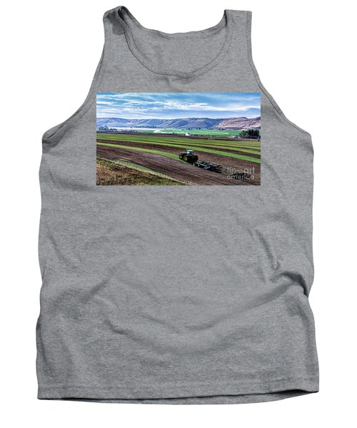 Farming In Pardise Agriculture Art By Kaylyn Franks Tank Top