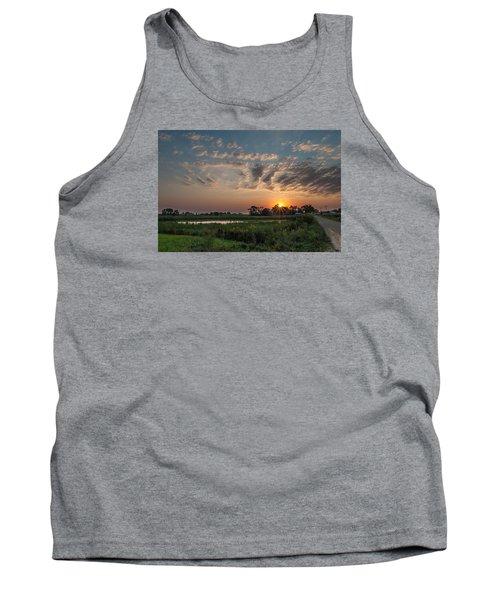 Farmstead Sunrise Tank Top by Dan Traun