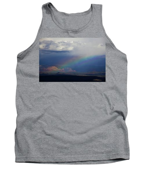Tank Top featuring the photograph Fat Rainbow, Sedona Az by Ron Chilston