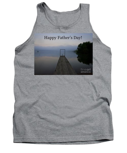 Father's Day Dock Tank Top by Douglas Stucky