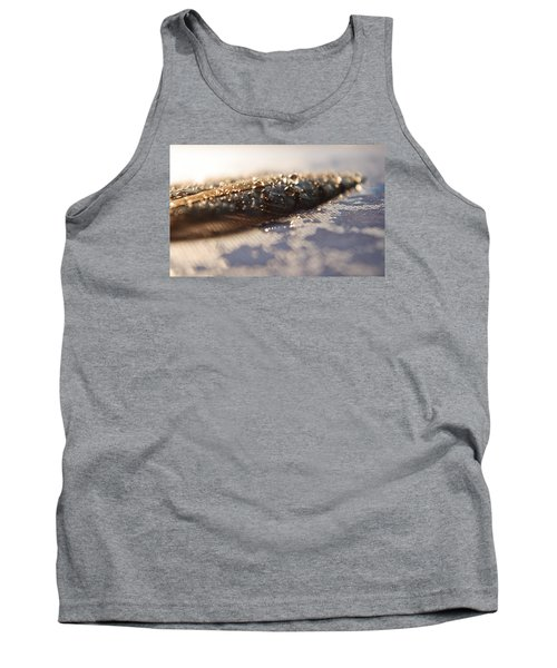 Tank Top featuring the photograph Feather In Puddle by Adria Trail