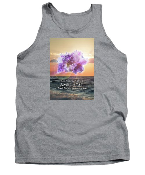 February Birthstone Amethyst Tank Top by Evie Cook