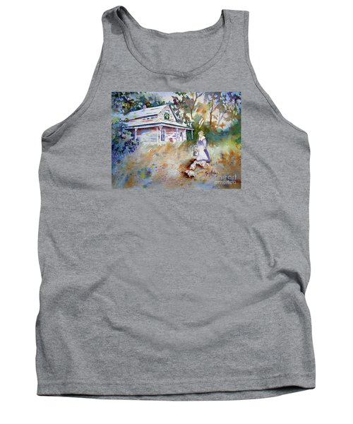 Tank Top featuring the painting Feeding Time by Mary Haley-Rocks