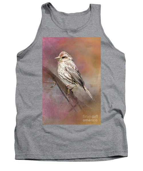 Female Sparrow On Branch Ginkelmier Inspired Tank Top