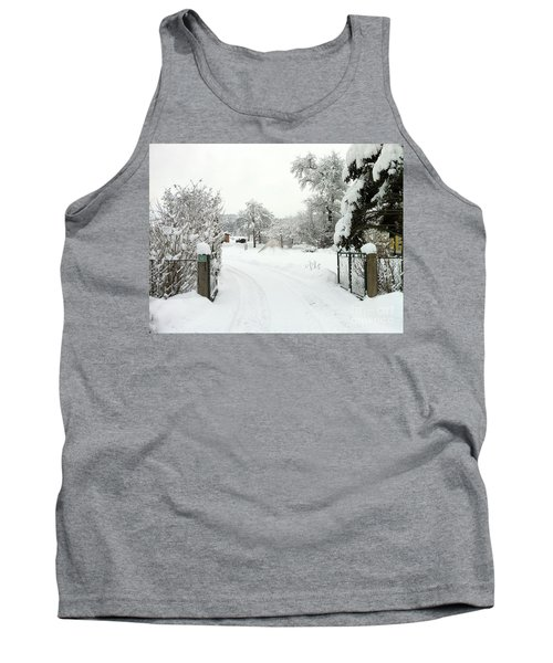 Fence And  Gate In Winter Tank Top