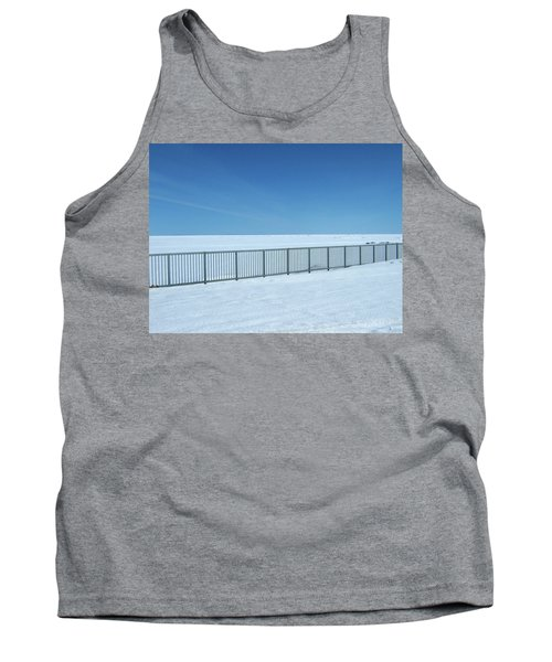 Fence In Snow Tank Top