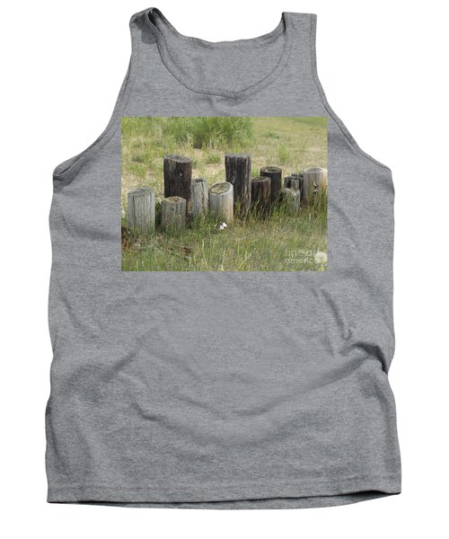 Fence Post All In A Row Tank Top by Erick Schmidt