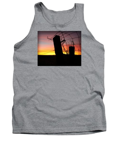Fence Sunrise Tank Top by Kathy M Krause