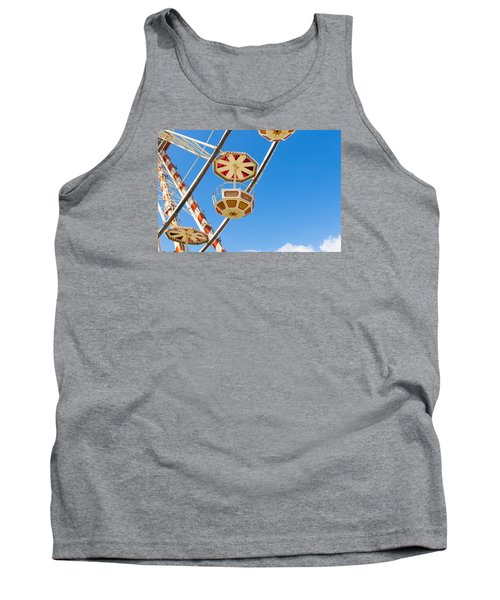 Tank Top featuring the photograph Ferris Wheel Cars In Toulouse by Semmick Photo