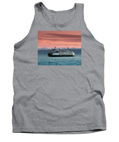 Ferry Cathlamet At Dawn.1 Tank Top by E Faithe Lester
