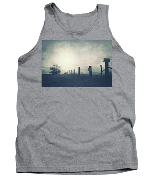 Field Beyond The Fence Tank Top