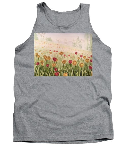 Field Of Tulips Tank Top by Kayla Jimenez