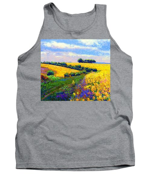 Tank Top featuring the painting Fields Of Gold by Jane Small