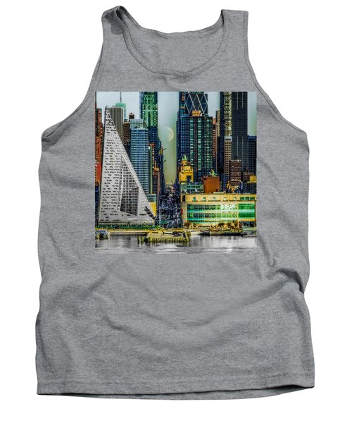 Tank Top featuring the photograph Fifty-seventh Street Fantasy by Chris Lord