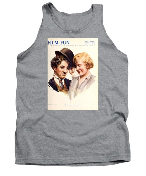 Film Fun Classic Comedy Magazine Featuring Charlie Chaplin And Girl 1916 Tank Top