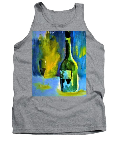 Tank Top featuring the painting Fine Wine Glow by Lisa Kaiser