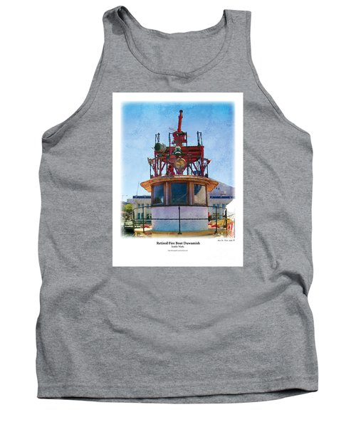 Tank Top featuring the painting Fire Boat by Kenneth De Tore