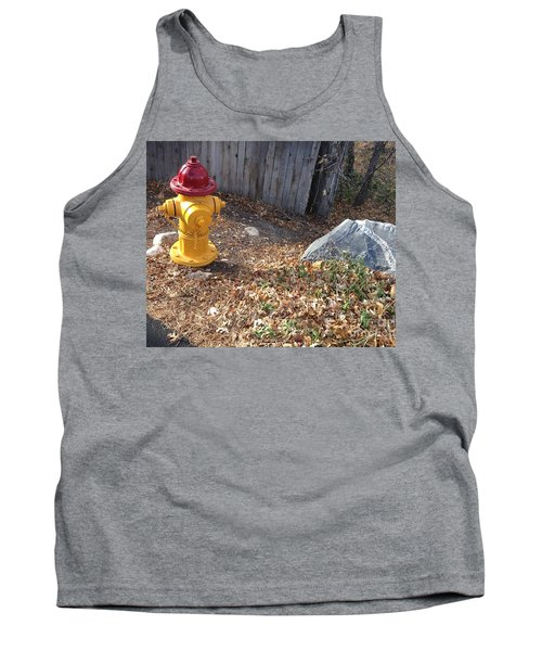 Fire Hydrant Checking Its Facerock Tank Top