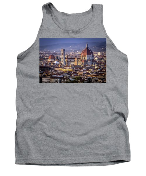 Tank Top featuring the photograph Firenze E Il Duomo by Sonny Marcyan