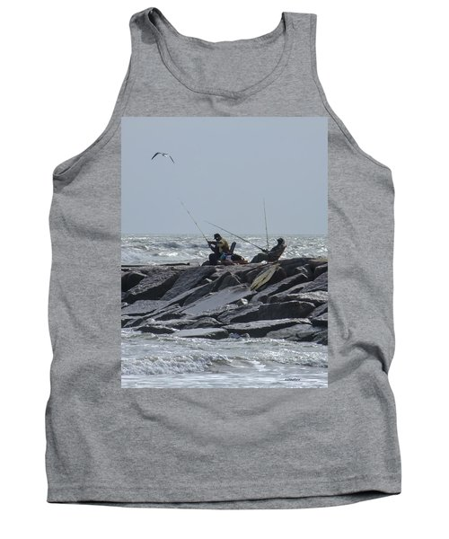 Fishermen With Seagull Tank Top