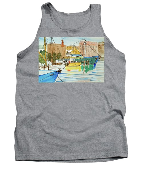 Fishing Boats In Hobart's Victoria Dock Tank Top