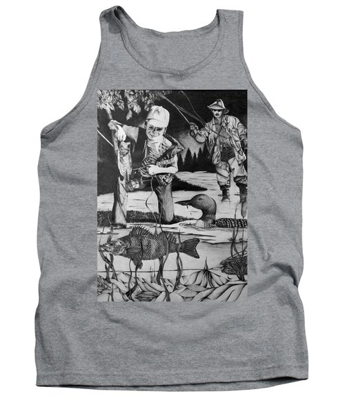 Fishing Vacation Tank Top by Bruce Bley