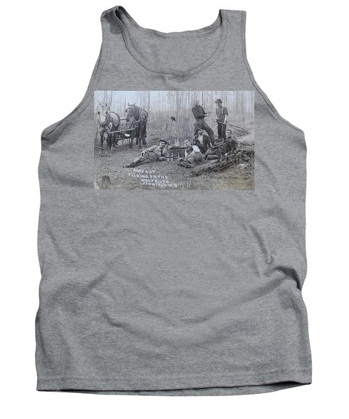 Fishing With The Boys Tank Top by Tammy Schneider