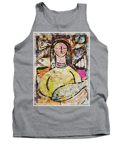 Tank Top featuring the digital art Fishmonger's Wife by Alexis Rotella