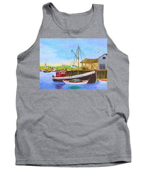 Fitting Out For Seining Tank Top by Bill Hubbard