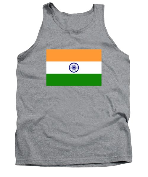 Flag Of India Authentic Version Tank Top by Bruce Stanfield