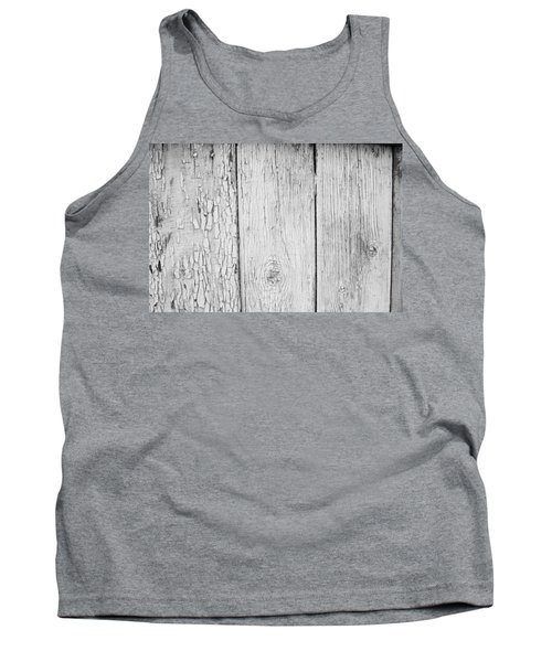 Tank Top featuring the photograph Flaking Grey Wood Paint by John Williams
