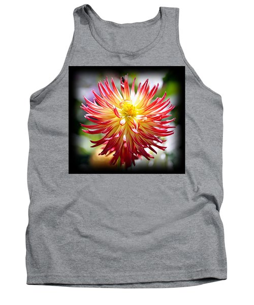 Tank Top featuring the photograph Flaming Beauty by AJ Schibig