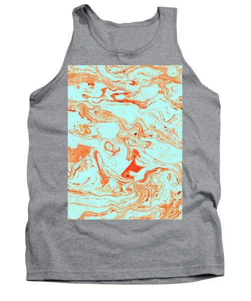 Flamingo And Sea Marble Tank Top