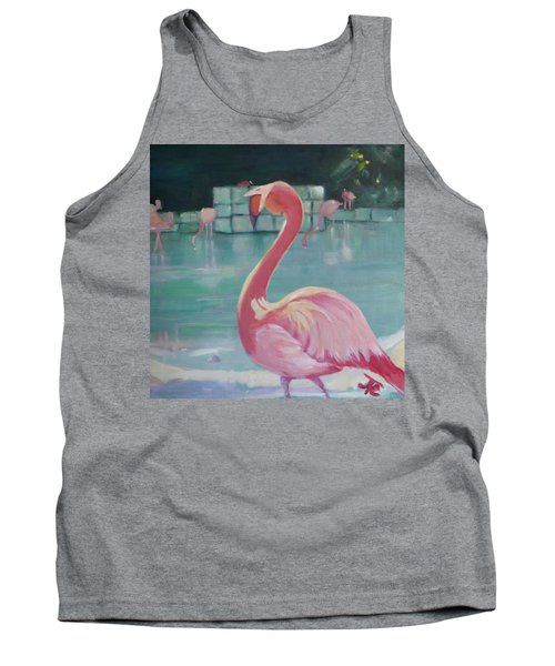 Flamingo Tank Top by Julie Todd-Cundiff