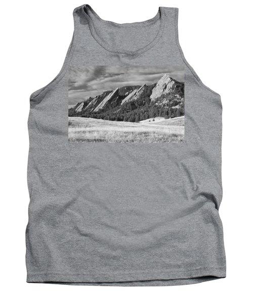 Flatiron Morning Light Boulder Colorado Bw Tank Top